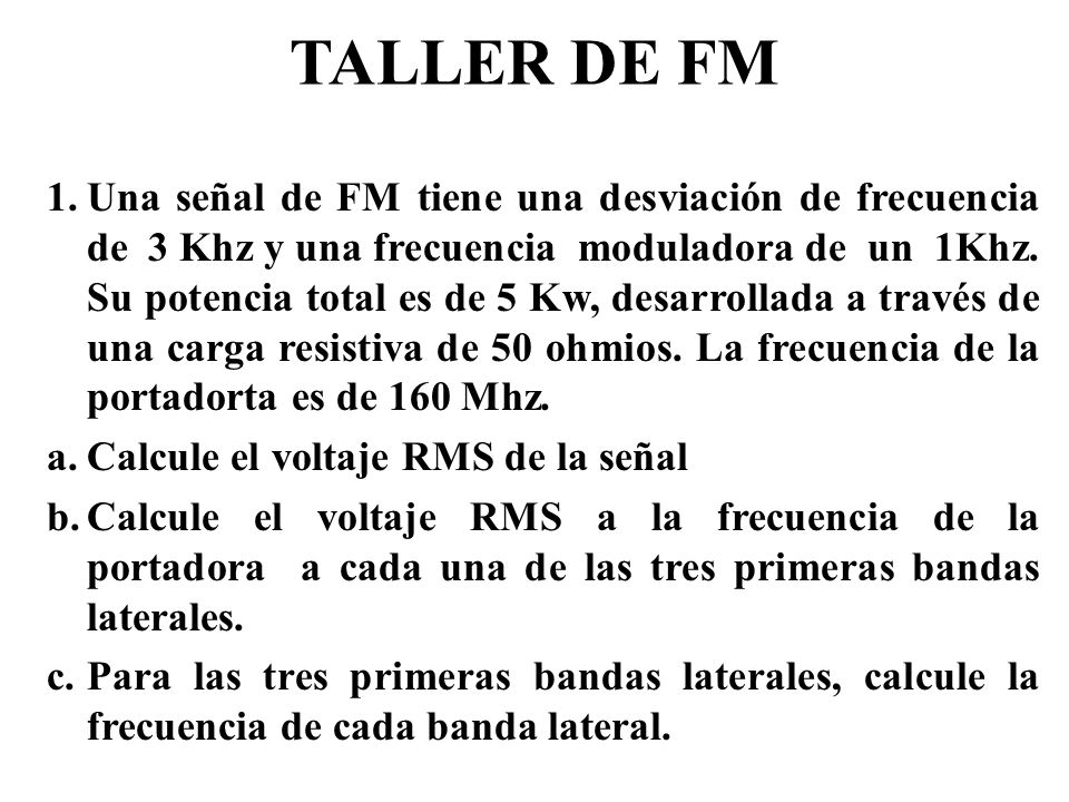 TALLER DE FM