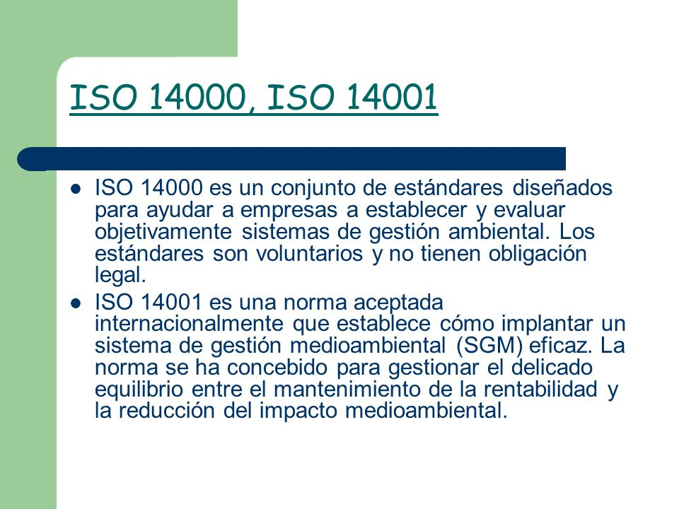 ISO 14000, ISO 14001