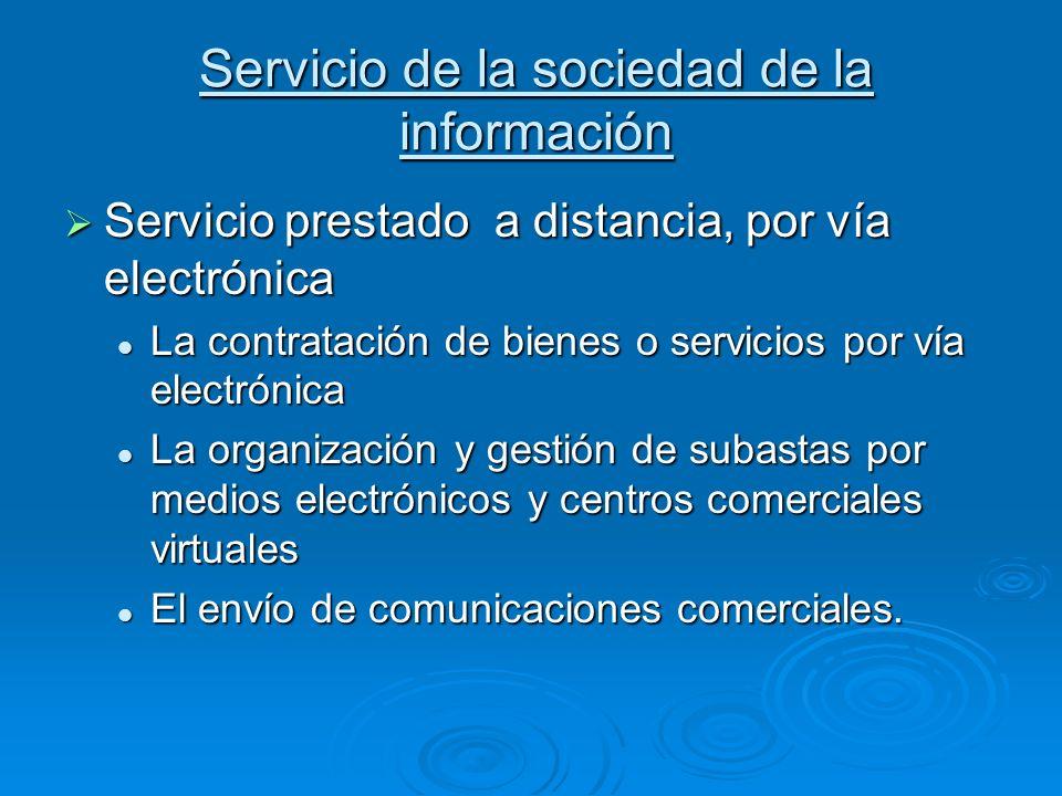 Servicio de la sociedad de la información