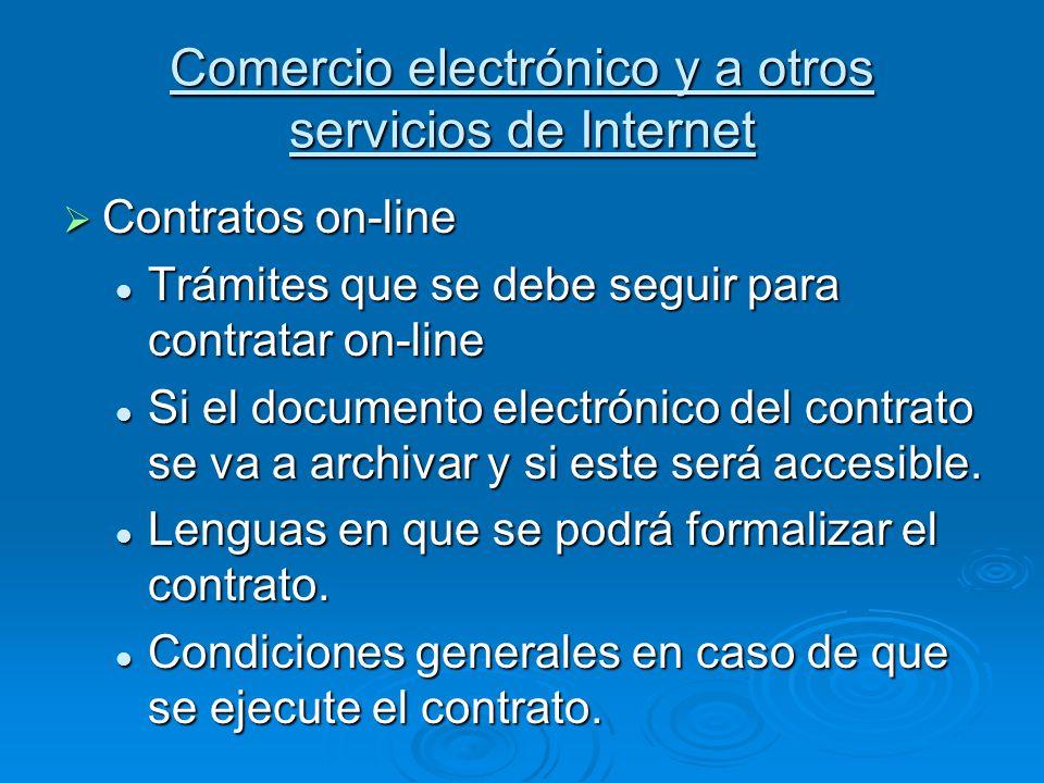 Comercio electrónico y a otros servicios de Internet