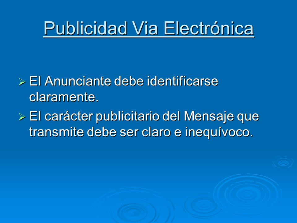 Publicidad Via Electrónica