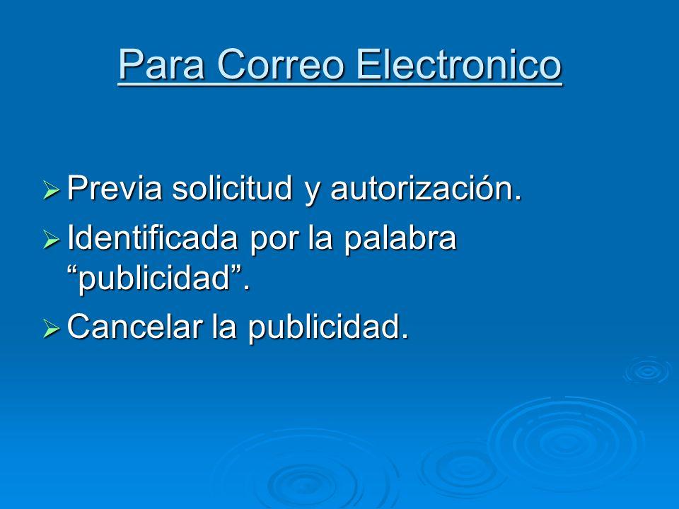 Para Correo Electronico