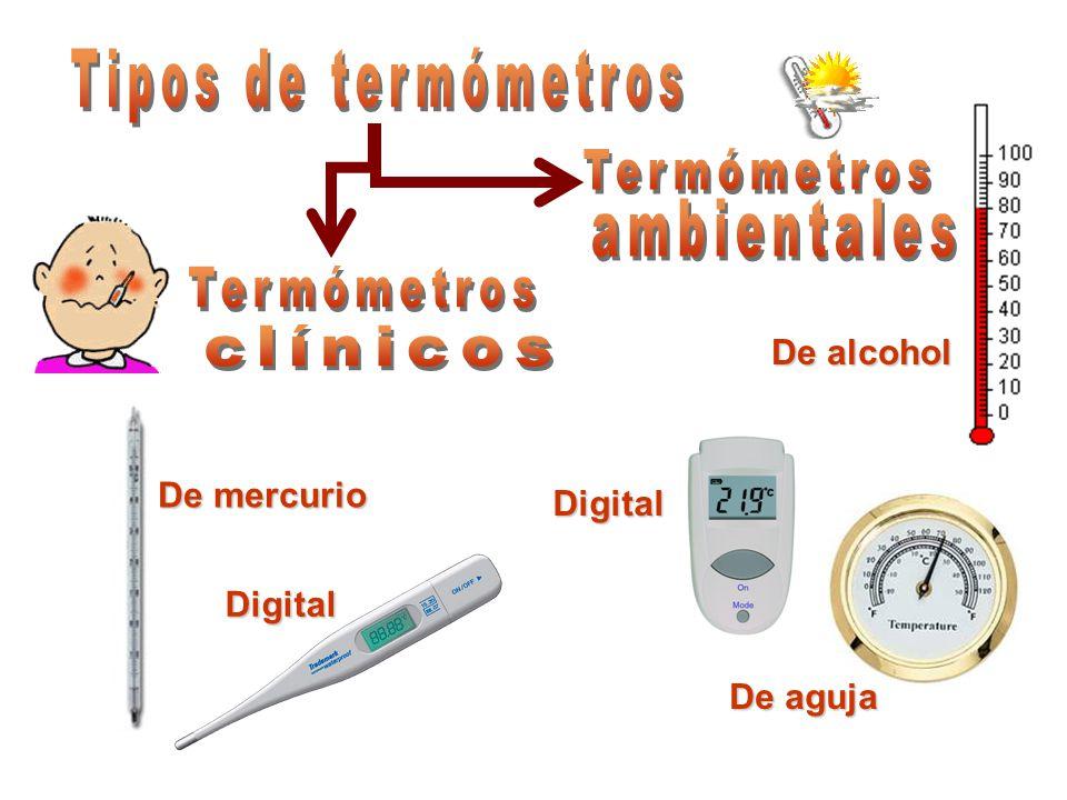 Tipos de termómetros Termómetros ambientales Termómetros clínicos