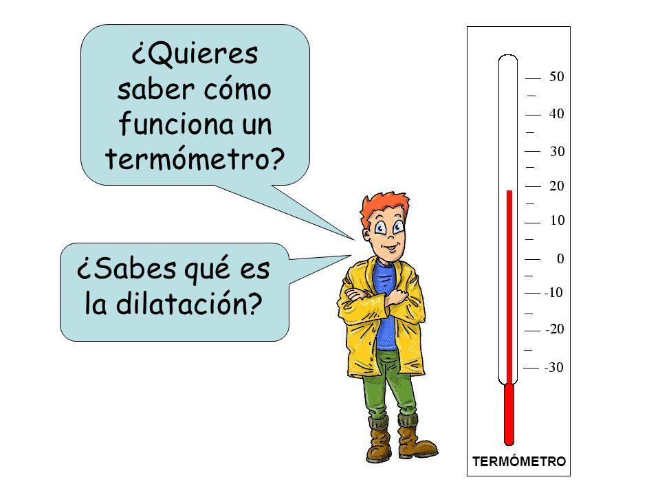 ¿Quieres saber cómo funciona un termómetro