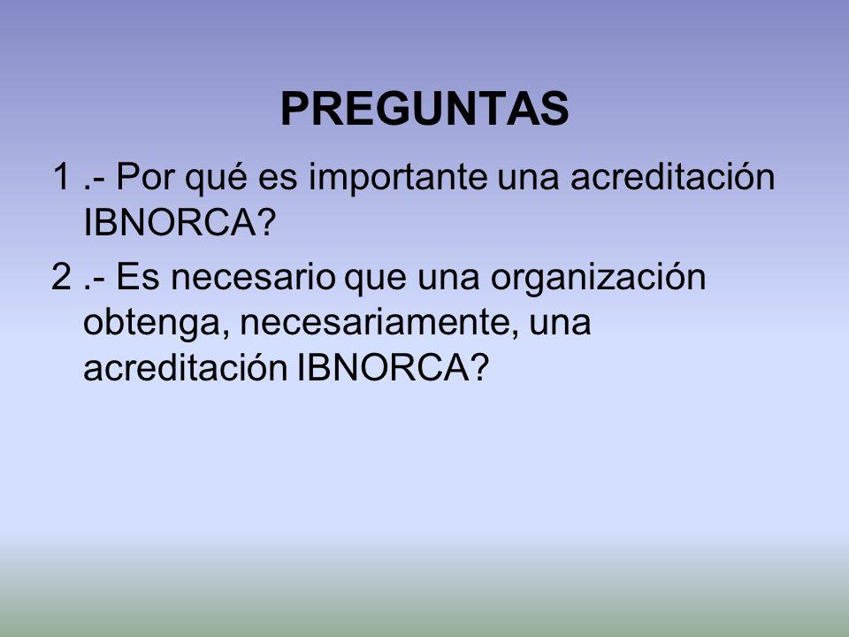 PREGUNTAS 1 .- Por qué es importante una acreditación IBNORCA