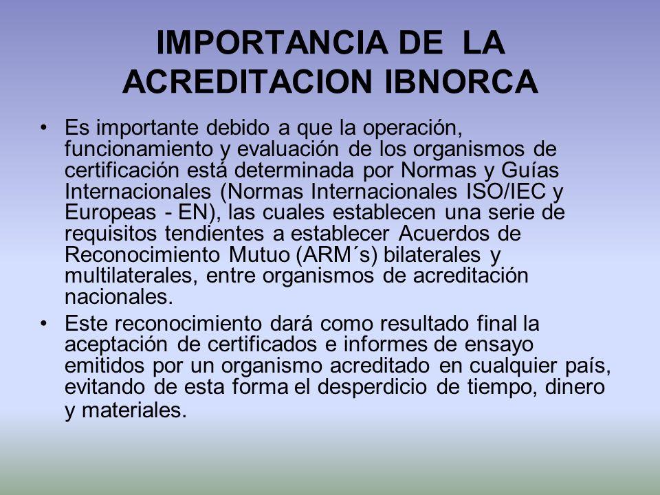IMPORTANCIA DE LA ACREDITACION IBNORCA