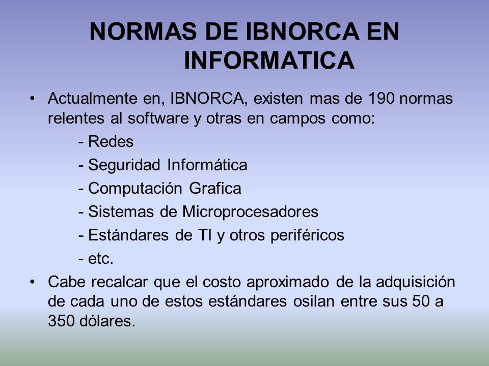 NORMAS DE IBNORCA EN INFORMATICA