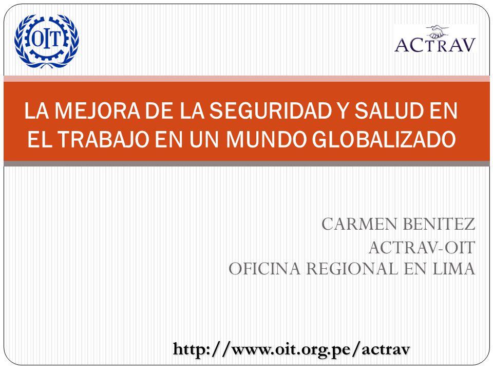 CARMEN BENITEZ ACTRAV-OIT OFICINA REGIONAL EN LIMA
