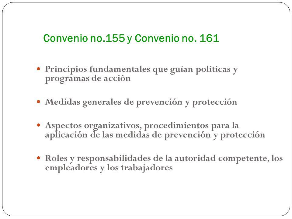 Convenio no.155 y Convenio no. 161