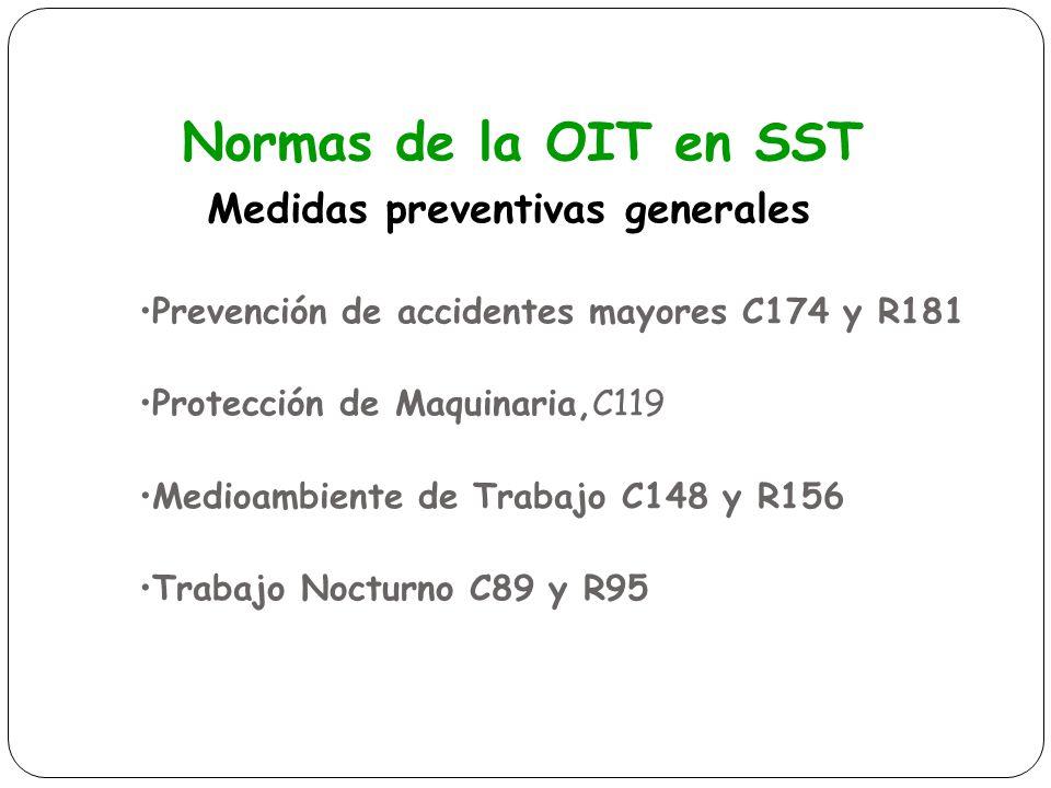 Normas de la OIT en SST Medidas preventivas generales