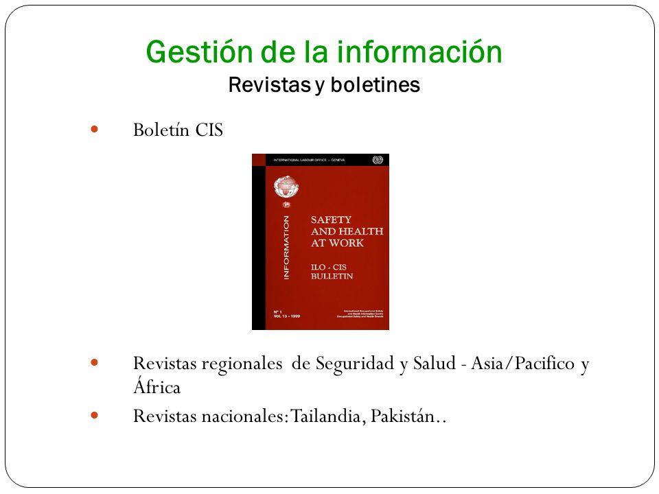 Gestión de la información Revistas y boletines