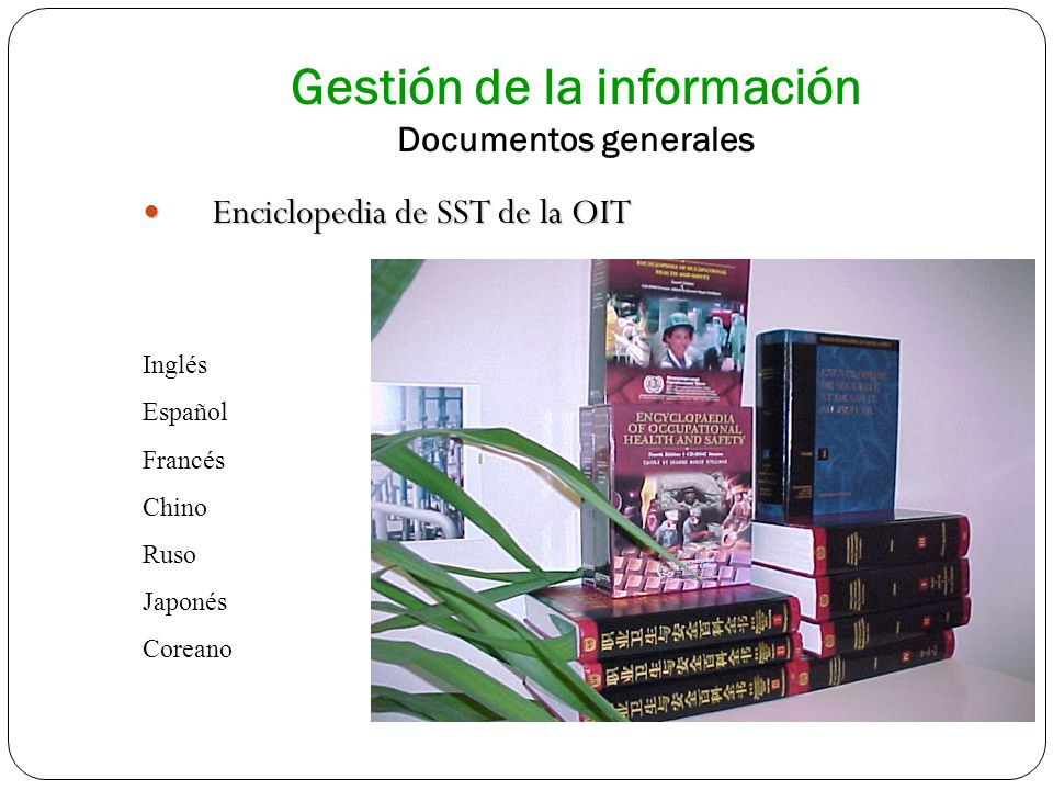 Gestión de la información Documentos generales