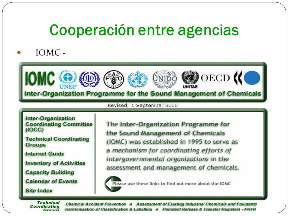 Cooperación entre agencias