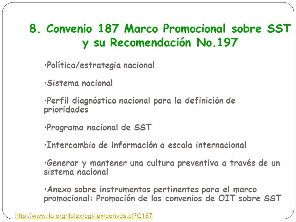 8. Convenio 187 Marco Promocional sobre SST y su Recomendación No.197