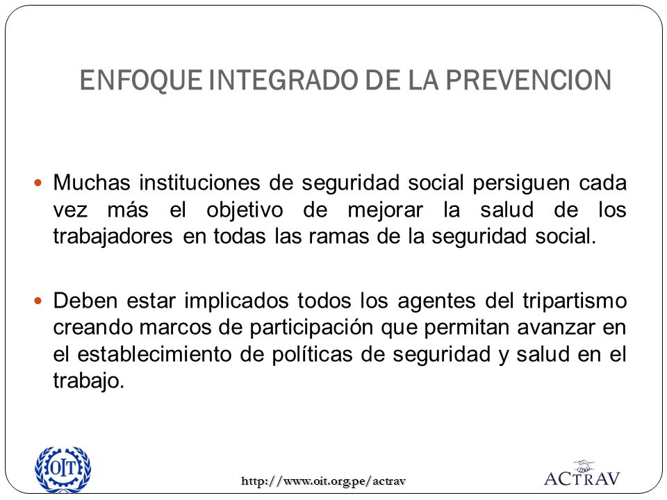 ENFOQUE INTEGRADO DE LA PREVENCION