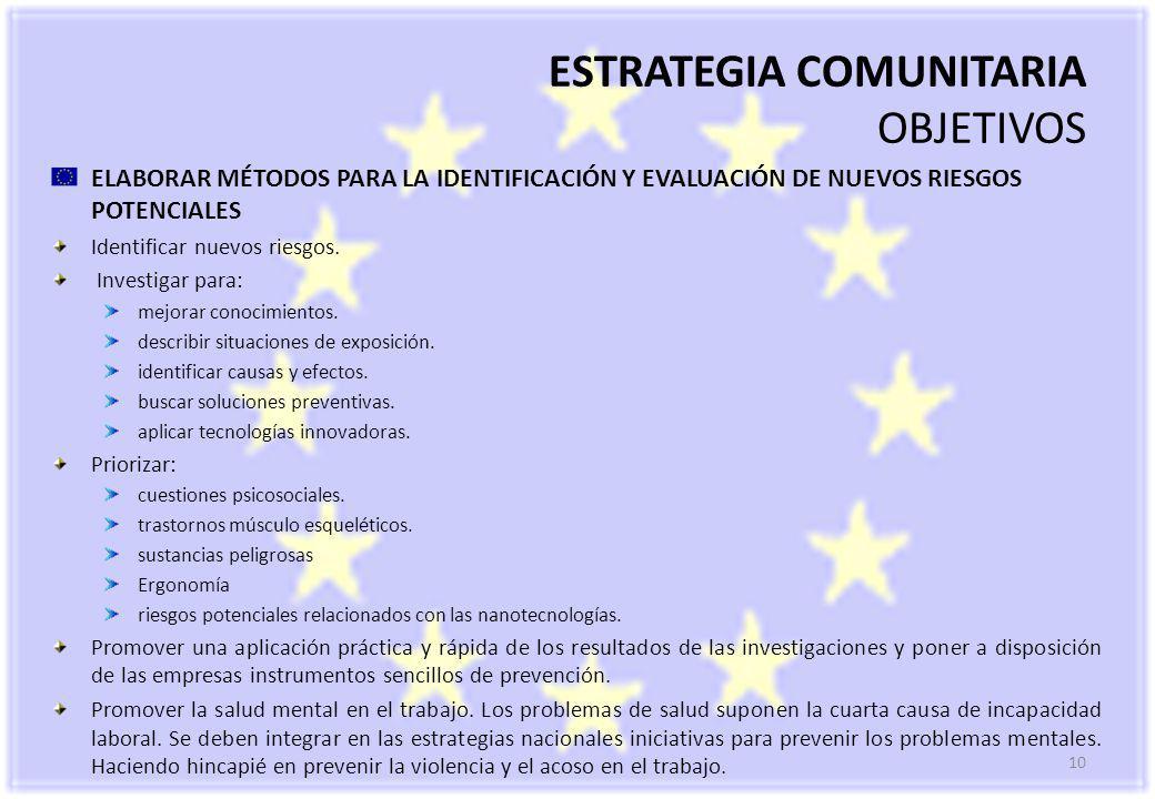 ESTRATEGIA COMUNITARIA OBJETIVOS