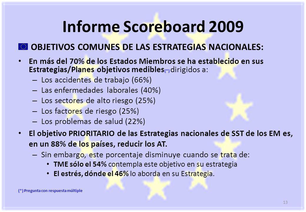 Informe Scoreboard 2009 OBJETIVOS COMUNES DE LAS ESTRATEGIAS NACIONALES: