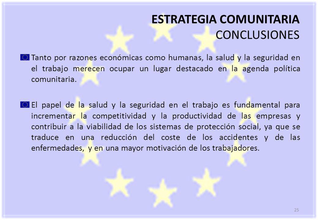 ESTRATEGIA COMUNITARIA CONCLUSIONES