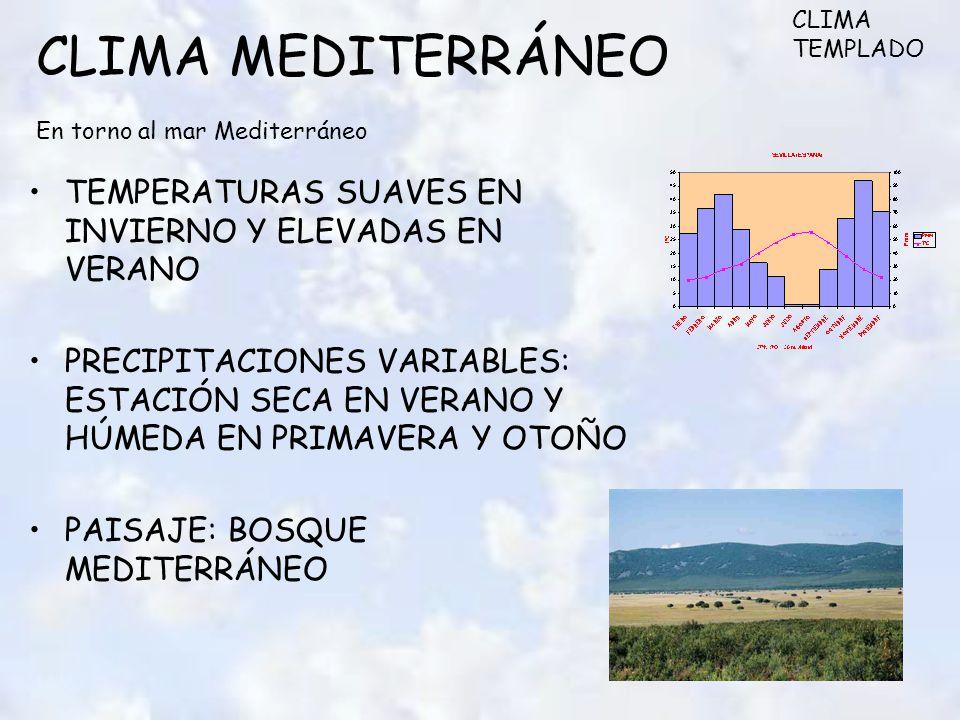 CLIMA MEDITERRÁNEO En torno al mar Mediterráneo