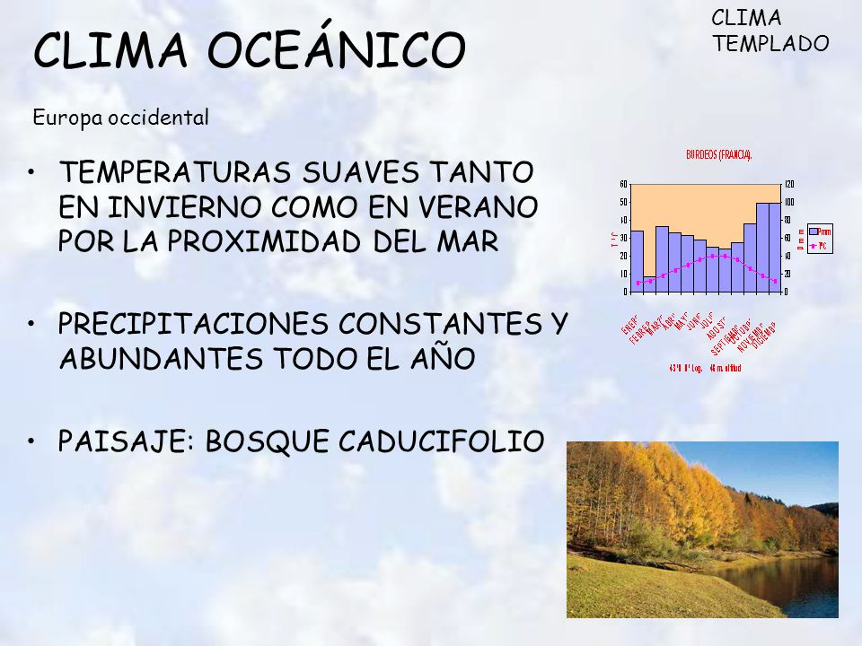 CLIMA OCEÁNICO Europa occidental