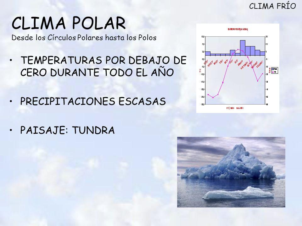 CLIMA POLAR Desde los Círculos Polares hasta los Polos