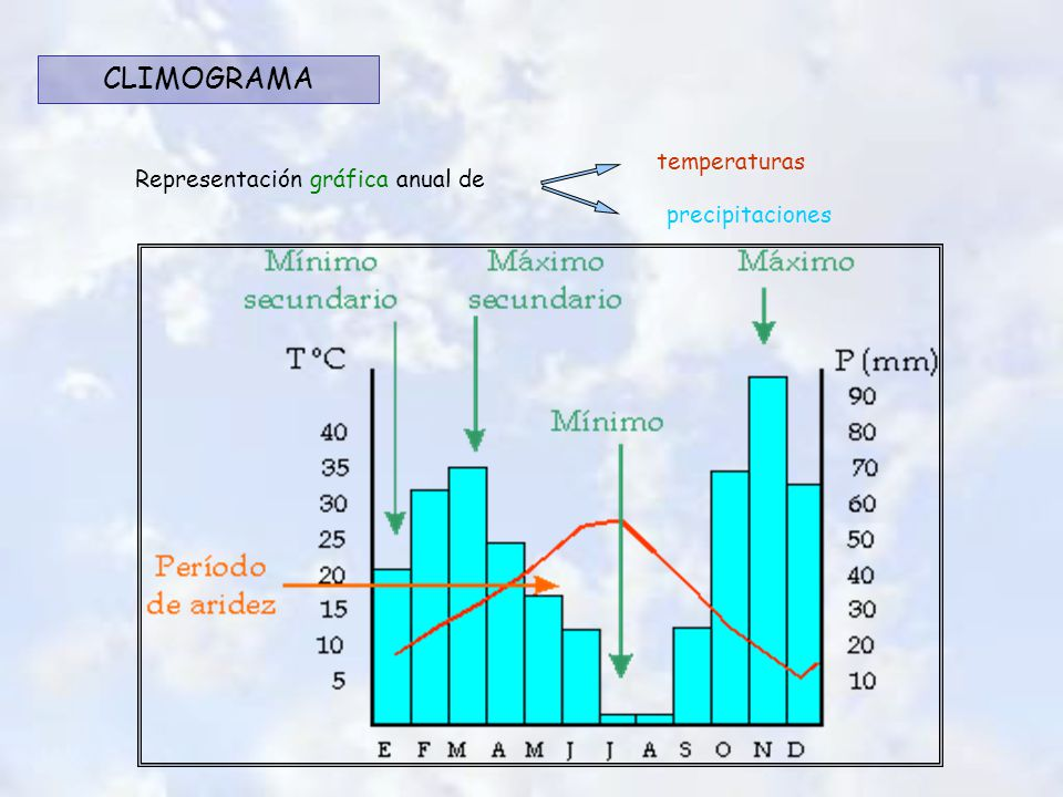 Representación gráfica anual de