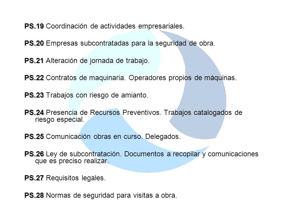 PS.19 Coordinación de actividades empresariales.