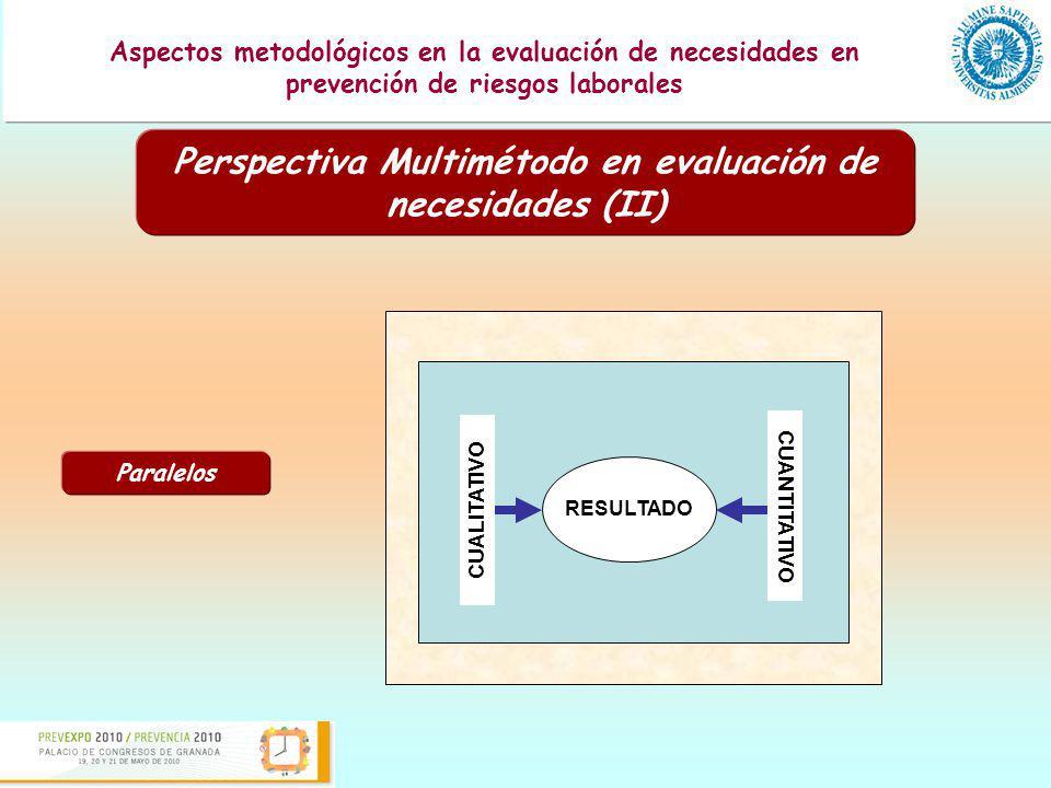 Perspectiva Multimétodo en evaluación de necesidades (II)