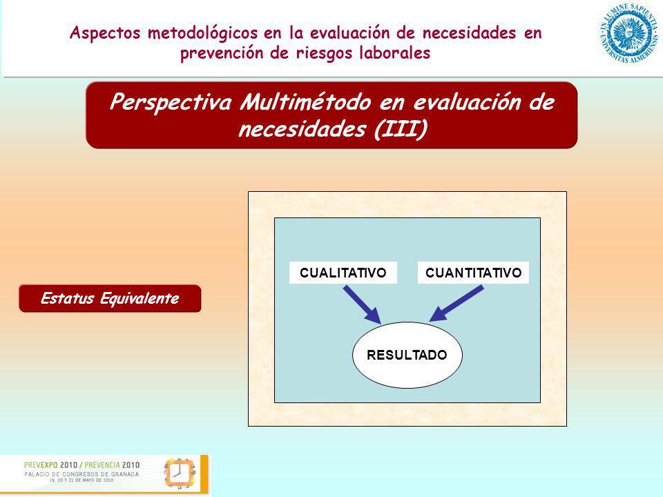 Perspectiva Multimétodo en evaluación de necesidades (III)