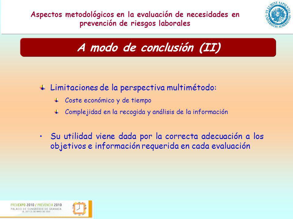A modo de conclusión (II)