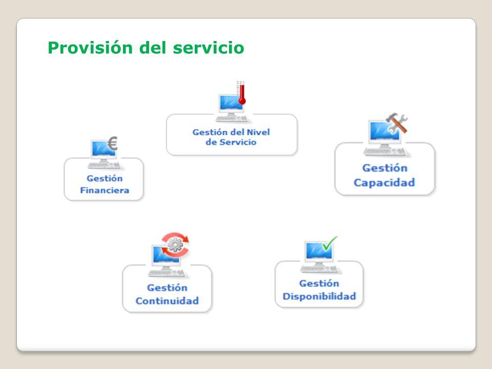 Provisión del servicio