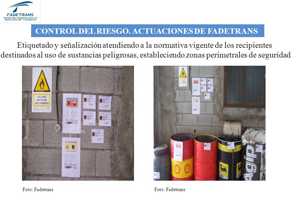 CONTROL DEL RIESGO. ACTUACIONES DE FADETRANS