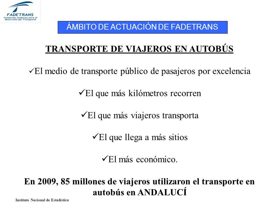 TRANSPORTE DE VIAJEROS EN AUTOBÚS