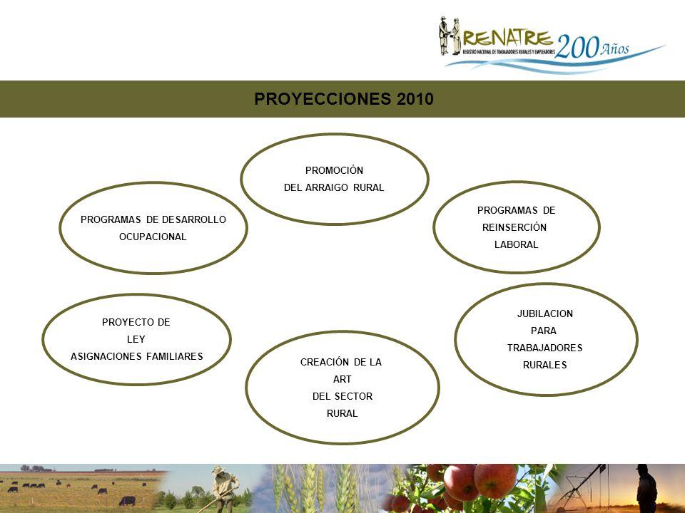 PROGRAMAS DE DESARROLLO ASIGNACIONES FAMILIARES