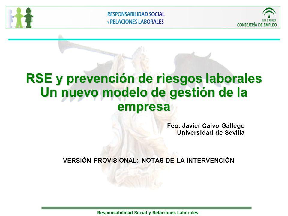 Fco. Javier Calvo Gallego Universidad de Sevilla