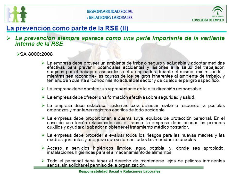 La prevención como parte de la RSE (II)