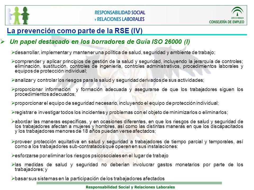 La prevención como parte de la RSE (IV)