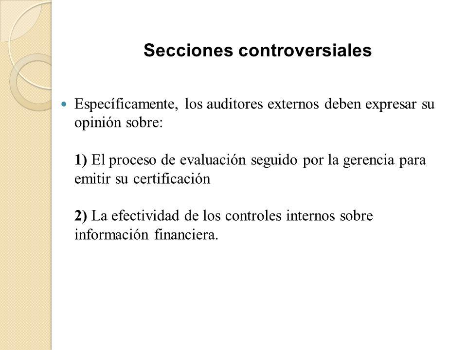 Secciones controversiales