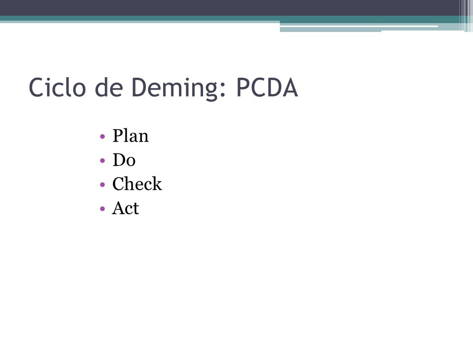 Ciclo de Deming: PCDA Plan Do Check Act