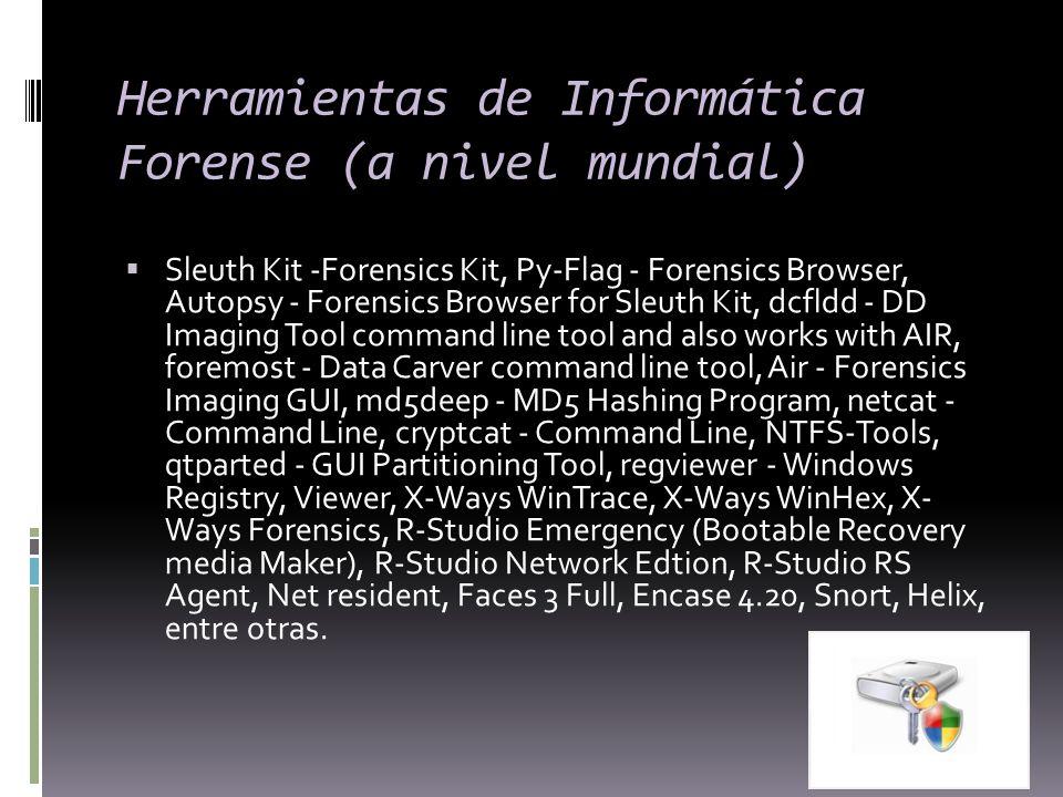 Herramientas de Informática Forense (a nivel mundial)
