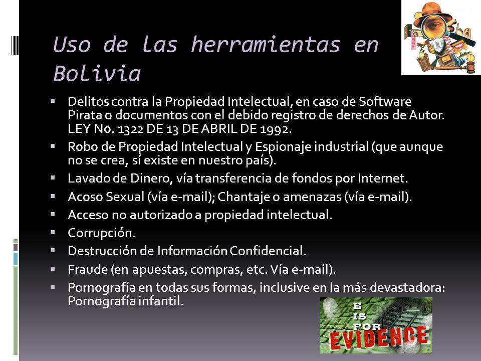 Uso de las herramientas en Bolivia