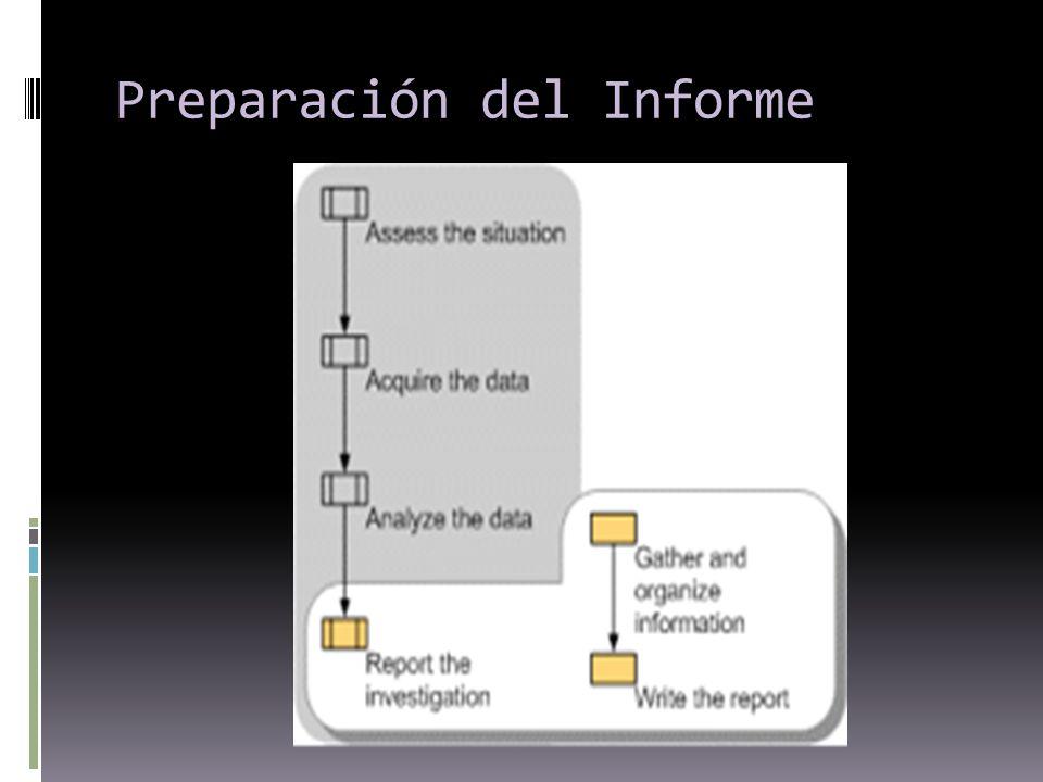 Preparación del Informe