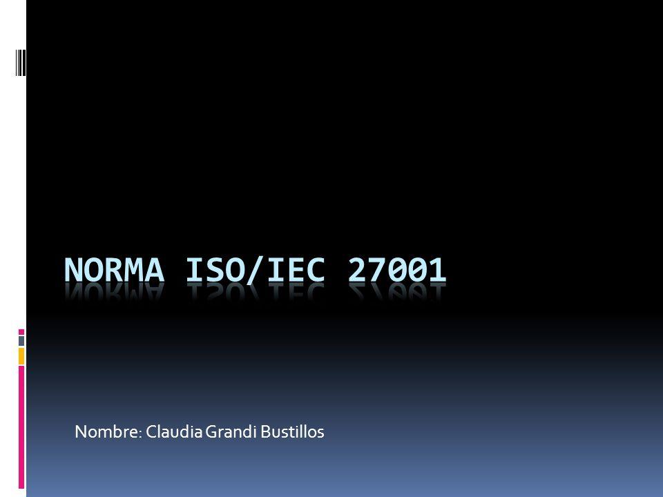 Nombre: Claudia Grandi Bustillos