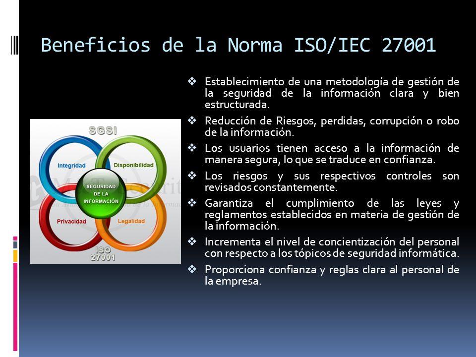 Beneficios de la Norma ISO/IEC 27001