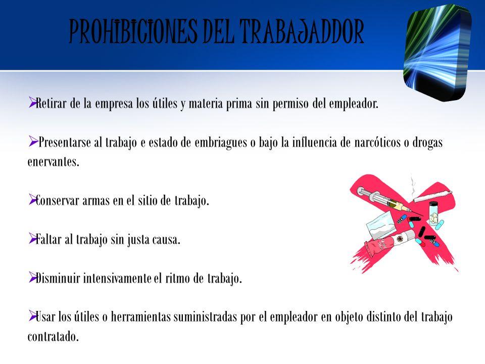 PROHIBICIONES DEL TRABAJADDOR