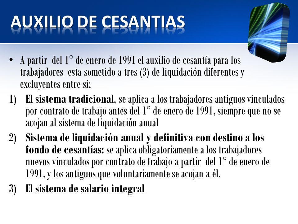 AUXILIO DE CESANTIAS