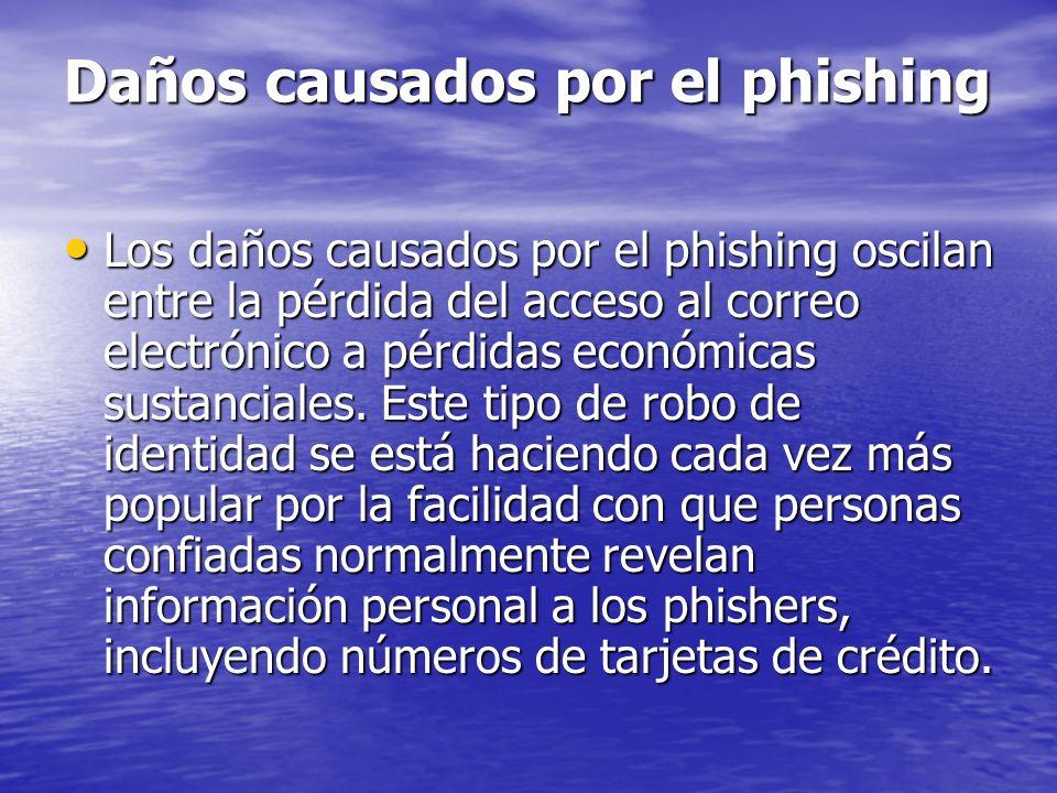 Daños causados por el phishing