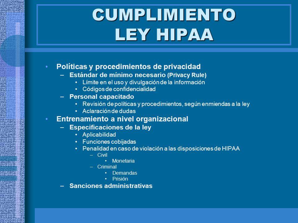 CUMPLIMIENTO LEY HIPAA