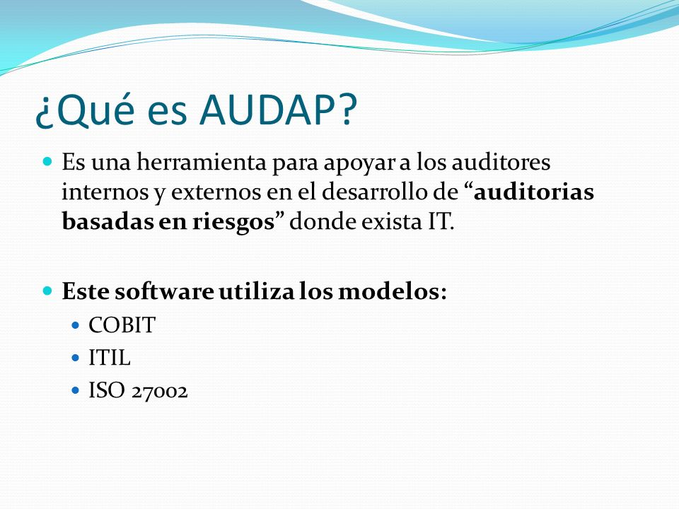 ¿Qué es AUDAP