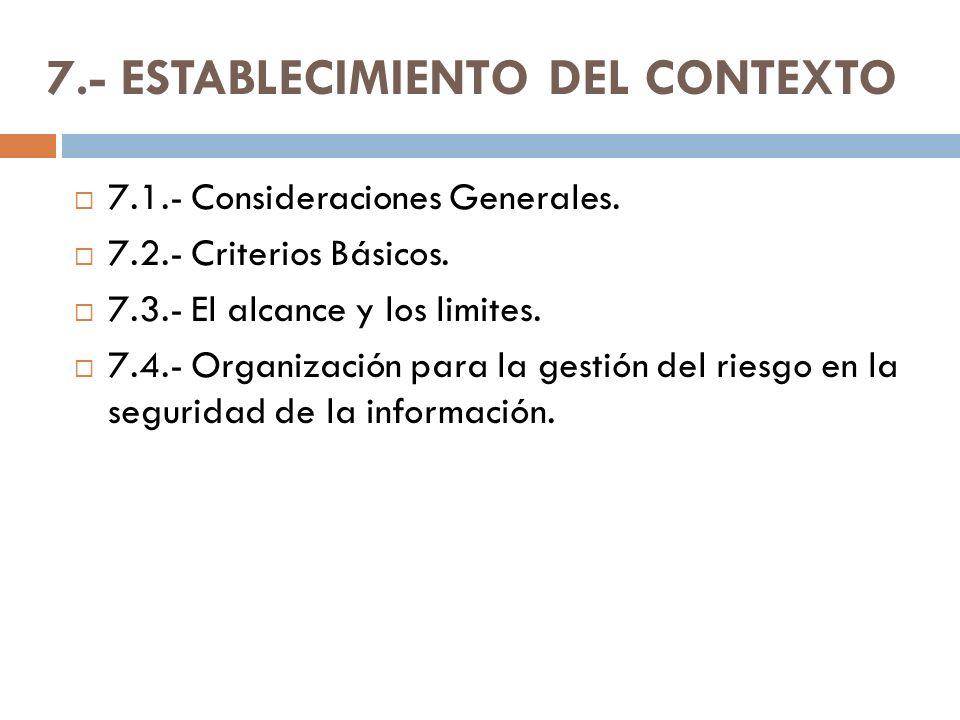 7.- ESTABLECIMIENTO DEL CONTEXTO